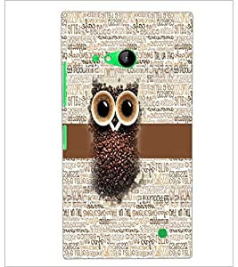 PrintDhaba Coffee Beans Owl D-4044 Back Case Cover for NOKIA LUMIA 730 (Multi-Coloured)