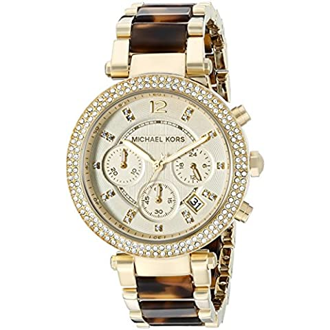 Michael Kors Parker, Orologio da polso Donna - Chronograph Beige Dial