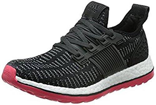 adidas Pureboost Zg Prime W, Chaussures de Running Entrainement Mixte Adulte Noir / rouge (noir essentiel / gris perspective (Vista Grey) / rouge impact)