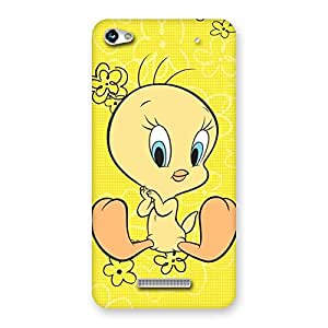 Awesome Yellow Twee Back Case Cover for Micromax Hue 2