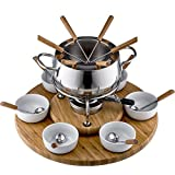 Style n Cook Swiss Fondue Edelstahl Fondue Set Alexa 28 teilig