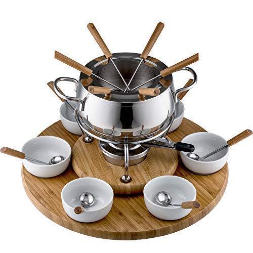 Style'n Cook Swiss Fondue Edelstahl Fondue-Set Alexa 28-teilig (Fondue-set Schweizer)