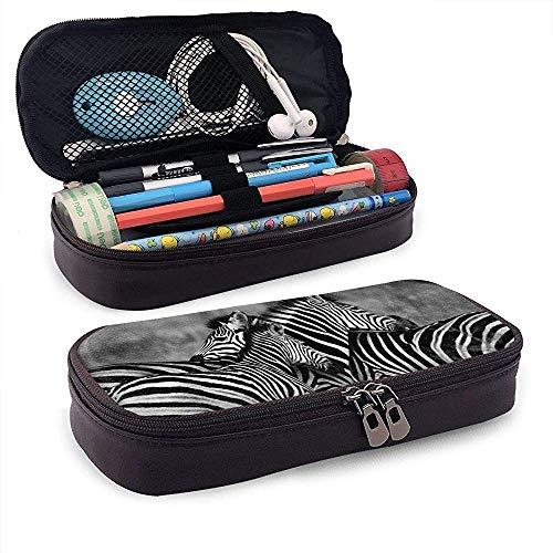 Zebra familie federmäppchen bleistiftbeutel make-up stift tasche halter box organizer doppelreißverschluss stifthalter