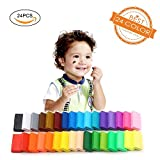 Polymer Clay 24 Colors Oven Bake DIY Colorful Clay Safe and Nontoxic Soft Modelling Moulding Colorful DIY Toys by Renoliss, Best Gift for kids (12.35 ounce)