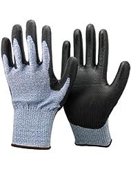 Unisexe niveau de coupe contre noir et bleu 5 (plus élevé) Gants. Certifié CE, idéal pour les jardiniers, le travail, le bricolage, les constructeurs, électriciens et les plombiers.