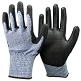 Unisex Black and Blue Anti Cut Resistant Level 5 (Highest) Gloves. CE Certified, Ideal For Gardeners, Work, DIY, Builders, Electricians and Plumbers. (Large EU 10)