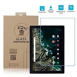tinxi® Protection écran Google Nexus Pixel C 10.2 pouces Film de protection d'écran en verre trempé pour écran Google Nexus Pixel C 10.2 pouces protecteur optimal et ultra dur protecteur d'écran en verre trempé Transparent