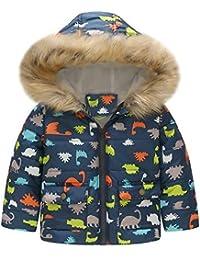 POLP Niña Chaqueta Ropa de algodón Caliente Prueba de Viento Abrigo con Capucha Felpa Cortavientos niño