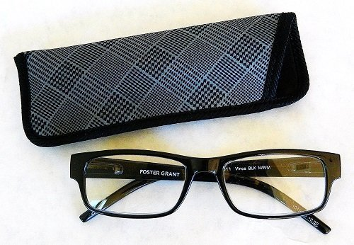 foster-grant250-compact-black-plastic-wayfarer-reading-glasses-w-spring-hinges-case-h14-1-free-bonus