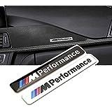 oxgrow (TM) estilo de coches 1x 85x 12mm Motosport M, potencia coche Logo Hood motocicleta emblema adhesivo para BMW E46E60E90E92F20
