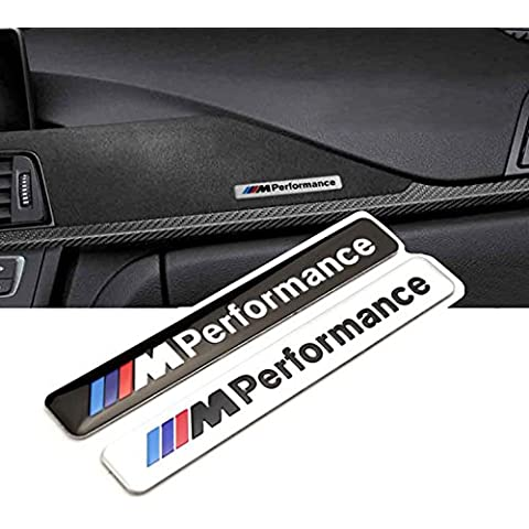 Oxita (TM) 1x per Auto 85x 12mm Motosport M Potenza Logo Auto Hood Moto Emblema in vinile per BMW E46E60E90E92F20 - 12 X 12 Auto