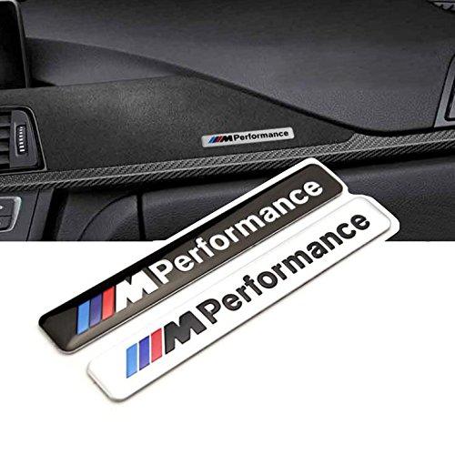 OxGrow(TM)1X Car Styling 85x12mm Motosport M Power Performance Car Logo Hood Motorcycle Emblem Decal Sticker for BMW e46 e60 e90 e92 f20 Test