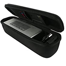 Khanka Duro EVA Viaje Estuche Bolso Funda Case para Bose Soundlink Mini 2 / II Bluetooth Portátil Wireless Speaker Altavoz - Fits the Cargador, Charging Cradle. Fits con the Bose TPU suave cubrir.