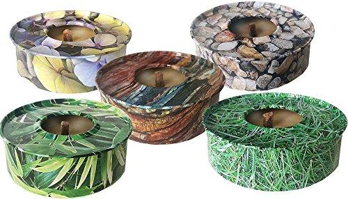 5al aire libre Citronella velas | resistente al viento | jardín, viaje, picnic velas en latas | no a los