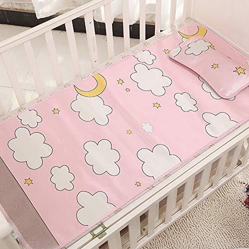 Baby-Sommer-Kühlmatte ausgestattet Krippe Blätter Set - tragbare Matratze Topper Krippe für Baby Jungen Mädchen (Bett-blatt-baby-junge)