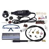 KKmoon 110-230V Eléctrico Molienda ConjuntoAC Regulando Velocidad Perforar Amoladora Herramienta para Molienda Pulido Perforación Corte GrabadoEquipo con 114 Piezas Accesorios