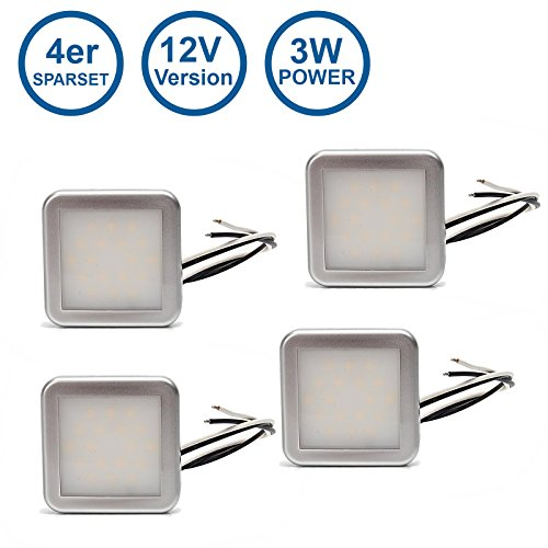 Preisvergleich Produktbild 4er Sparset LED-MARTIN Design-Innenraumleuchte LED Neoneffekt 12V