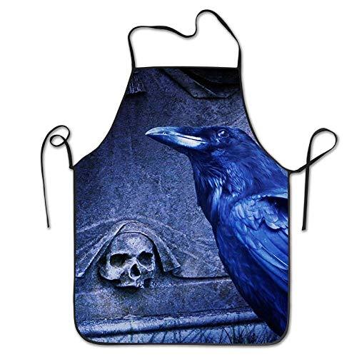 Fashion Skeleton Raven Apron ()