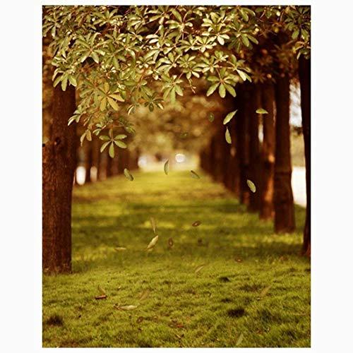 Ouken 3x5ft grüne Bäume Waldgarten Feld Natur Landschaft Grafik Gedruckte Wand Wandbild Vinyl Tuch Fotografie Hintergründe Bild 12