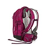 SATCH Purple Leaves Kinder-Rucksack, 45 cm, Lila Rosa Blätter, SAT-SLE-001-9H3