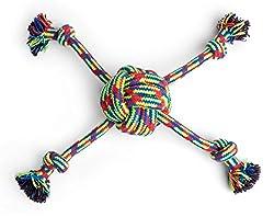 toyz Petface Quad geflochten Seil Ball Hundespielzeug