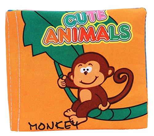 La vogue Juguetes Libros de Tela para Bebes Aprendizaje 40*9cm (Animales)