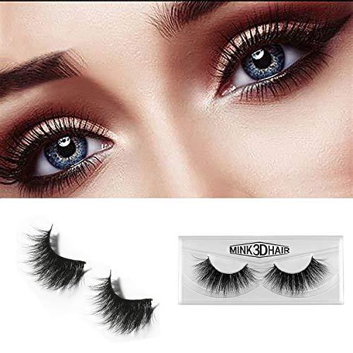 Falsche Wimpern 3D Natürlich Fake Lang Dick Künstlich Nerz Doppel Augenlid Lashes Vtrem Makeup Wiederverwendbar -