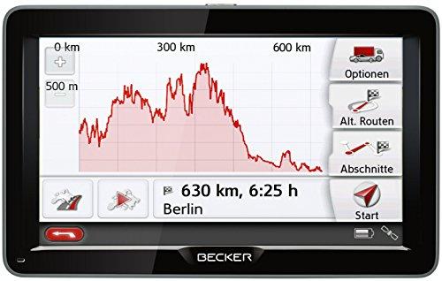 Becker Transit 70 LMU Navigationsgerät (WiFi,17,8 cm (7 Zoll) kapazitives Display, 45 Länder Europas, Lebenslange Kartenupdates) schwarz