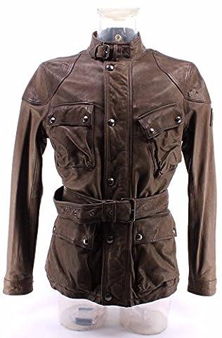 Men's Leather Jacket BELSTAFF 71050298 Speedmaster 2016 Jacket Man Pale Military