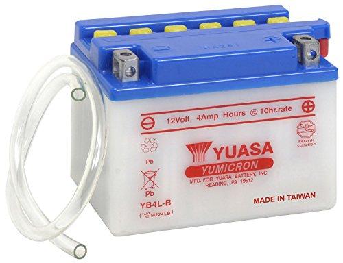 Batteria YUASA YB4L-B, 12V/4Ah (dimensioni: 121x 71x 93)