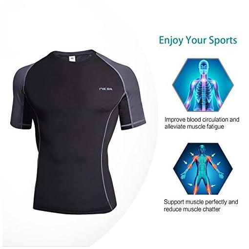 Niksa 3 Piezas Conjunto Camiseta Compresión Ropa Deportiva Hombre ... 7acdce947e65f