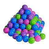 Knorrtoys 56777 - Bälleset - 100 bunte Plastikbälle/ Bälle für Bällebad, 6 cm Durchmesser, in Farbmischung Pastelltöne rosa/ blau/ lila/ grün, ohne gefährliche Weichmacher, TÜV-Rheinland Testbericht v. April 2016