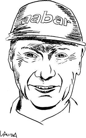 Mister Merchandise Cooles Herren T-Shirt Niki Lauda Navy