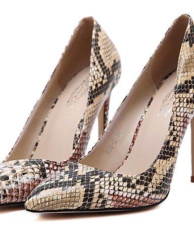 LFNLYX Chaussures Femme-Mariage / Habillé / Décontracté / Soirée & Evénement-Rouge / Kaki-Talon Aiguille-Talons / Confort / Nouveauté / Bottes à Khaki