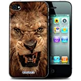 Coque de Stuff4 / Coque pour Apple iPhone 4/4S / Lion Design / Animaux sauvages Collection