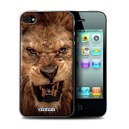 Gedruckt Schutzkoffer Schutzhüllen / Hülle für Apple iPhone 4/4S / Wolf Muster / Wilde Tiere Kollektion Löwe
