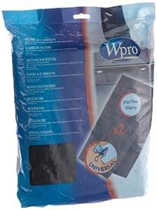 WPRO FHO009 Lot de 2 Filtres Universels à Charbon