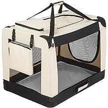 "TecTake Transportín plegable para perros jaula de transporte bolsa viaje 90x59x64 cm ""XXL"""