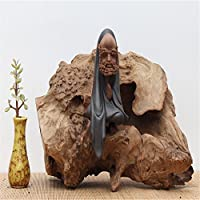 creative in vero legno carving Artwork Tree Root base Home Office Room decorazioni ornamenti, Deep carta in