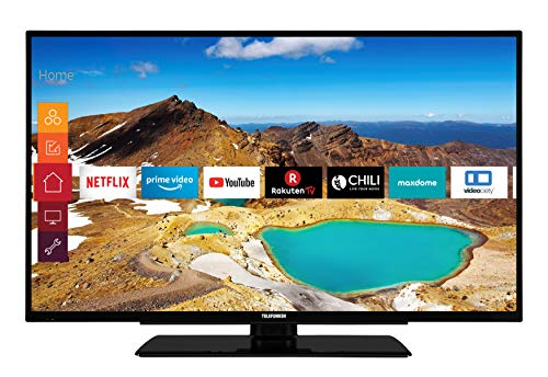 Telefunken XU40G521 102 cm (40 Zoll) Fernseher (4K Ultra HD, HDR10, Triple Tuner, Smart TV, Prime Video)