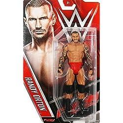 WWE RANDY ORTON RKO ROSSO PANTALONI WWF MATTEL SERIE 60 BASIC ACTION WRESTLING FIGURE