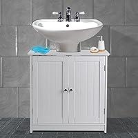 AVC Designs White Bathroom Under Sink Cabinet Basin Unit Cupboard Quality Storage Furniture