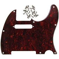 IKN 8 agujero estándar Golpeador con tornillos para Precision tele estilo guitarra Reemplazo, Red Tortoise