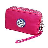 Women Wallet Purse, Veriya Multifunction 3 Layer Zipper Wristlets Clutch Handbag Card Cash Key Holder Organiser Cell Phone Bag for iPhone6/7 Samsung S5 S6 S7 Under 5.5