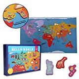 #7: MiDeer Hello World Map 148 Magnetic Stickers Magnetic Refrigerator Paste Children Early Learning Puzzle Toy - Edu Toys