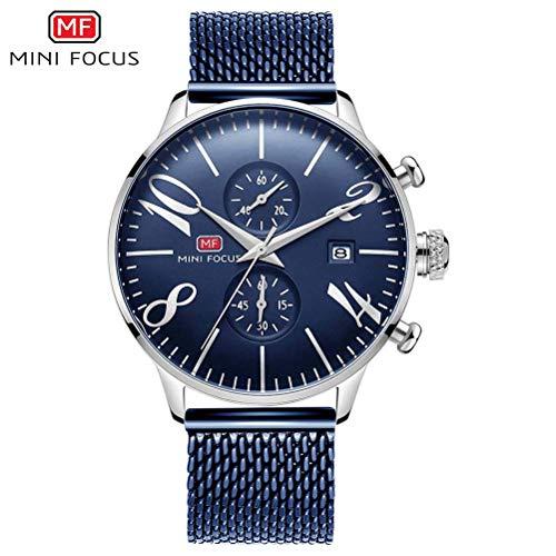 xisnhis schöne Uhren Mini - fokus / mf0135g männer - Quarz - Uhr stahlmatten mit Zwei kleinen Scheibe Zeiger Wasserdichte Uhr