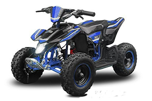"Eco Mini Quad 800W Madox Premium 4"" 36V ATV Bike Pocket Miniquad Kinderquad Kinderfahrzeug (Blau)"