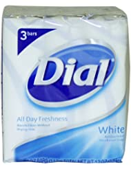 Dial U-BB-1331 Blanc savon d-odorant antibact-rien - 3 x 4 oz - Savon