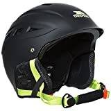 Trespass Furillo, Black, L/XL, Ski Helmet with Removable Ear Pads, Goggle Retainer & Adjustable Ventilation System, Large / X-Large, Black