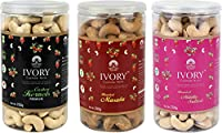 Ivory Value Plain,Roasted Masala and Mildly Salted Cashews (250 g) (Pack of 3)